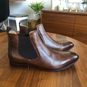 Johnston and Murphy Leather Chelsea Boots